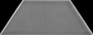 Gratitude Dark Grey Glossy Wall Tile - Trapezoid (Glossy) 4x9TPZ