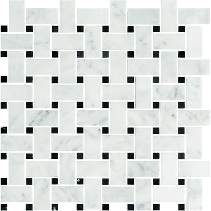 Makrana Honed Basketweave Mosaics M12BW