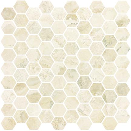 Giallo Honed Hexagon Mosaics M12HEX