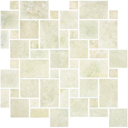 Crema Honed Versailles Mosaics M12VERS