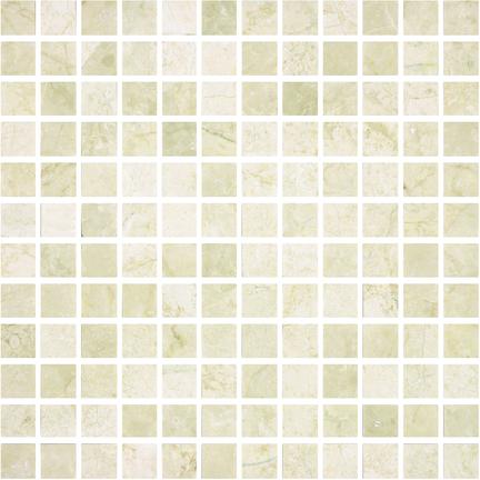 Crema Honed 144 Piece Mosaics M1x1