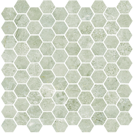 Argento Honed Hexagon Mosaics M12HEX