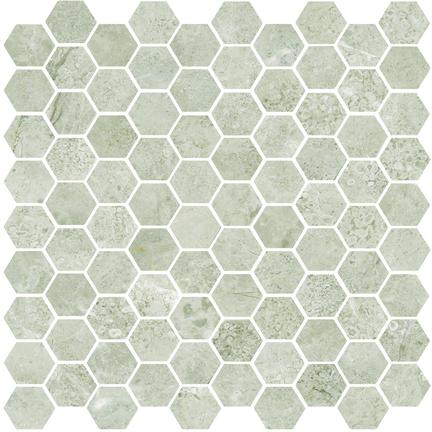 Argento Polished Hexagon Mosaics M12HEX