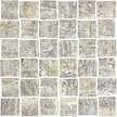 Silver Veincut Polished 36 Piece Basketweave Mosaics M122-BW
