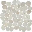 Island White Flat Flat Pebble Mosaics 12x12