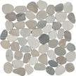 Navajo White Flat Flat Pebble Mosaics 12x12