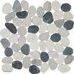 Silver Quartz Flat Flat Pebble Mosaics 12x12